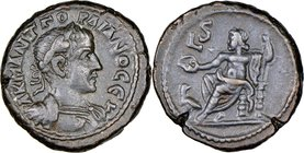 EGYPT. Alexandria. Gordian III (AD 238-244). BI tetradrachm (22mm, 12.16 gm, 12h). NGC Choice XF 5/5 - 5/5. Dated Regnal Year 6 (AD 242/3). A K M ANT ...