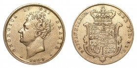 GREAT BRITAIN. George IV, 1820-30. Gold Sovereign, 1829, London. Good fine.. 7.99 g. 22.05 mm. S.3801. Good fine.