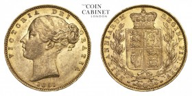 GREAT BRITAIN. Victoria, 1837-1901. Gold Sovereign, 1851, London. Extremely fine.. 7.99 g. 22.05 mm. Mintage: 4,013,624. Marsh 34; S.3852C. Extremely ...