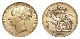 AUSTRALIA. Victoria, 1837-1901. Gold Sovereign, 1874-S, Sydney. Good very fine.. 7.99 g. 22.05 mm. Mintage: 1,899,000. Marsh 113; S-3858A. Young head,...