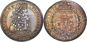 Leopold I Taler 1699 AU55 S NGC, Hall mint, KM1303.5, Dav-3245A. Simply stated, a perfectly toned specimen, a full and glowing rainbow's ring gracing ...