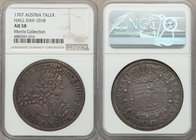 Joseph I Taler 1707 AU58 NGC, Hall mint, KM1438.1, Dav-1018. Existing very much on the cusp of Mint State, this darkly toned taler exudes a marked air...
