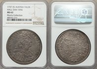 Karl VI Taler 1737-(5) MS62 NGC, Hall mint, KM1639.1, Dav-1056. Silver-toned and struck on a slightly curved flan. Of very strong preservation for the...