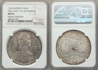 Maria Theresa Taler 1765 MS63 NGC, KM1816, Dav-1121. Lightly toned over glassy fields showing only the faintest instances of handling, the overall imp...