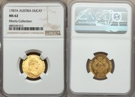 Joseph II gold Ducat 1787-A MS62 NGC, Vienna mint, KM1873. Bright with shimmering golden luster and displaying almost full reverse reflectivity. Curre...