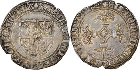 Flanders. Charles the Bold of Burgundy (1467-1477) Double Patard (Dubbele Stuiver) ND XF40 NGC, Bruges mint, Rob-7884, Vanhoudt-32BG. 3.13gm. Unusuall...