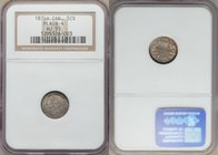 "Victoria ""Plain 4"" 5 Cents 1874-H AU55 NGC, Heaton mint, KM2. A scarcer variety not often found outside of lower, circulated grades, seen here with pi..."
