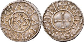 Carolingian. Charles the Bald (840-877) Denier ND (864-877) XF45 NGC, Courcessin or Courgeon mint, Class 2, Rob-1355, MEC I-860, MG-895, Dep-375. 19mm...