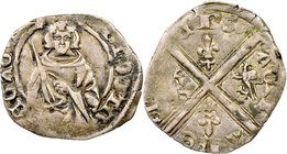 Aquitaine. Edward the Black Prince (1362-1372) Hardi d'Argent ND VF30 NGC, Mint obliterated (possibly Limoges), cf. Elias-204. 0.92gm. Surprisingly ex...