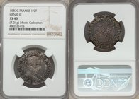 "Henri III (1574-1589) 1/2 Franc 1587-G XF45 NGC, Poitiers mint, Dup-1131. 29mm. 7.01gm. A markedly well-aged specimen of this normally ""white-washed"" ..."