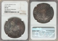 Louis XIV Ecu 1712-A AU55 NGC, Paris mint, KM386.1, Dav-1324. Fully struck, the devices exhibiting impressive sharpness even after a brief period in c...