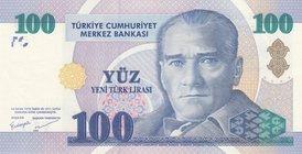 Prefix F P-219 UNC Turkey 20 Ytl // Lira 2005