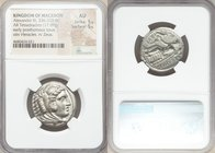 MACEDONIAN KINGDOM. Alexander III the Great (336-323 BC). AR tetradrachm (24mm, 17.09 gm, 8h). NGC AU 5/5 - 5/5. Early posthumous issue of 'Amphipolis...