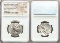MACEDONIAN KINGDOM. Alexander III the Great (336-323 BC). AR tetradrachm (27mm, 17.04 gm, 10h). NGC AU 5/5 - 4/5. Posthumous issue of Ake or Tyre, dat...