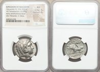 MACEDONIAN KINGDOM. Alexander III the Great (336-323 BC). AR tetradrachm (27mm, 16.89 gm, 2h). NGC AU 4/5 - 4/5. Early posthumous issue of 'Amphipolis...