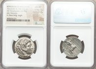 MACEDONIAN KINGDOM. Alexander III the Great (336-323 BC). AR tetradrachm (24mm, 16.98 gm, 11h). NGC Choice XF 5/5 - 3/5. Babylon, lifetime issue, ca. ...