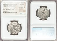 MACEDONIAN KINGDOM. Alexander III the Great (336-323 BC). AR tetradrachm (26mm, 16.99 gm, 6h). NGC Choice XF 4/5 - 3/5. Late lifetime-early posthumous...