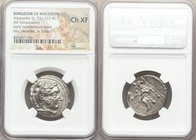 MACEDONIAN KINGDOM. Alexander III the Great (336-323 BC). AR tetradrachm (25mm, 10h). NGC Choice XF. Early posthumous issue of Tyre, dated Regnal Year...