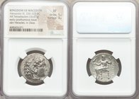 MACEDONIAN KINGDOM. Alexander III the Great (336-323 BC). AR tetradrachm (26mm, 16.67 gm, 12h). NGC XF 5/5 - 3/5. Early posthumous issue of 'Babylon',...