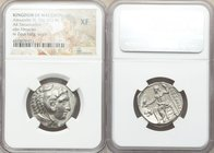 MACEDONIAN KINGDOM. Alexander III the Great (336-323 BC). AR tetradrachm (25mm, 11h). NGC XF. Lifetime issue of 'Amphipolis', ca. 336-323 BC. Head of ...