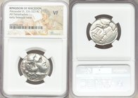 MACEDONIAN KINGDOM. Alexander III the Great (336-323 BC). AR tetradrachm (24mm, 6h). NGC VF. Posthumous issue of 'Babylon', under Seleucus I Nicator, ...