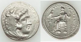 MACEDONIAN KINGDOM. Alexander III the Great (336-323 BC). AR tetradrachm (28mm, 16.70 gm, 8h). XF. Lifetime issue of Tarsus, ca. 327-323 BC. Head of H...