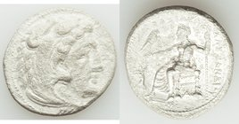 MACEDONIAN KINGDOM. Alexander III the Great (336-323 BC). AR tetradrachm (26mm, 16.18 gm, 11h). About XF, rough, pitted. Posthumous issue of Tarsus, c...