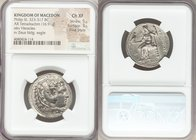 MACEDONIAN KINGDOM. Alexander III the Great (336-323 BC). AR tetradrachm (27mm, 16.91 gm, 6h). NGC Choice XF, 5/5 - 3/4, Fine Style. Early posthumous ...