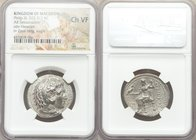 MACEDONIAN KINGDOM. Alexander III the Great (336-323 BC). AR tetradrachm (27mm, 11h). NGC Choice VF. Early posthumous issue of 'Babylon', under Philip...