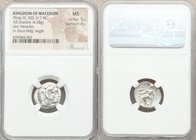 MACEDONIAN KINGDOM. Alexander III the Great (336-323 BC). AR drachm (18mm, 4.28 gm, 1h). NGC MS 5/5 - 4/5. Sardes, struck under Menander, 323-319 BC. ...