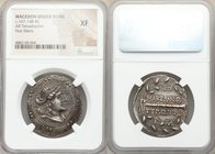 MACEDON UNDER ROME. First Meris. Ca. 167-149 BC. AR tetradrachm (30mm, 12h). NGC XF. Diademed and draped bust of Artemis right, bow and quiver over sh...