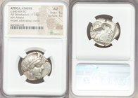 ATTICA. Athens. Ca. 440-404 BC. AR tetradrachm (26mm, 17.15 gm, 7h). NGC AU 5/5 - 5/5. Mid-mass coinage issue. Head of Athena right, wearing crested A...