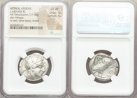 ATTICA. Athens. Ca. 440-404 BC. AR tetradrachm (25mm, 17.18 gm, 1h). NGC Choice XF 4/5 - 5/5. Mid-mass coinage issue. Head of Athena right, wearing cr...