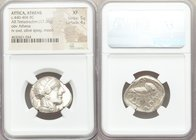 ATTICA. Athens. Ca. 440-404 BC. AR tetradrachm (25mm, 17.20 gm, 2h). NGC XF 5/5 - 4/5. Mid-mass coinage issue. Head of Athena right, wearing crested A...
