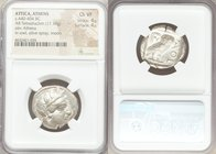 ATTICA. Athens. Ca. 440-404 BC. AR tetradrachm (25mm, 17.19 gm, 7h). NGC Choice VF 4/5 - 4/5. Mid-mass coinage issue. Head of Athena right, wearing cr...