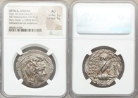 ATTICA. Athens. Ca. 165-42 BC. AR tetradrachm (32mm, 16.56 gm, 12h).NGC AU 5/5 - 5/5. 'New Style' issue, 109/8 BC, Damon, Sosicrates, and Theodor, mag...