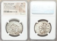 MYSIA. Pergamum. Under Roman Rule (ca. 180/167-133 BC). AR cistophorus (33mm, 12.68 gm, 11h). NGC MS 4/5 - 3/5. Struck ca. 160-150 BC. Serpent emergin...