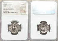 IONIA. Ephesus. Ca. 4th century BC. AR tetradrachm (23mm, 15.09 gm, 12h). NGC Choice XF 4/5 - 2/5. Magistrate: Theodoros, 360-350 BC. E-Φ, Bee with cu...
