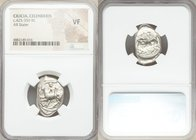 CILICIA. Celenderis. Ca. 425-400 BC. AR stater (20mm, 6h). NGC VF. Youthful nude male rider, reins in right hand, kentron in left, dismounting from ho...