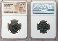 SYRIA. Seleucis and Pieria. Antioch. Otho. AD 69. AE semis (23mm, 7.57 g, 12h). NGC Choice VF 4/5 - 4/5. IMP M [OTHO CAE AVG], laureate head of Otho r...