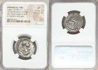 PHOENICIA. Tyre. Trajan (AD 98-117). AR tetradrachm (24mm, 14.25 gm, 6h). NGC XF 3/5 - 4/5. Dated Regnal Year 17 and Cos. VI (AD 113). AYTOKP KAIC NЄP...