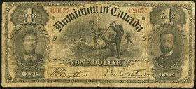 Canada Dominion of Canada $1 1898 DC-13a Very Good.   HID09801242017