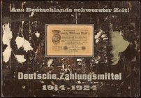 Germany Large Album with 62 Various Notes from the Early 1920s Very Fine-About Uncirculated. The album measures 15 by 10 inches.  HID09801242017