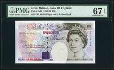 Great Britain Bank of England 20 Pounds 1991-93 Pick 384b PMG Superb Gem Unc 67 EPQ.   HID09801242017