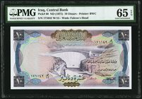 Iraq Central Bank of Iraq 10 Dinars ND (1971) Pick 60 PMG Gem Uncirculated 65 EPQ.   HID09801242017