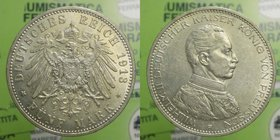 Germania - 5 Marchi 1913 - Ag