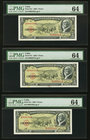 Cuba Banco Nacional de Cuba 5 Pesos 1960 Pick 91c Six Examples PMG Choice Uncirculated 64. Three Sets Of Consecutive Examples.  HID09801242017