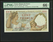 France Banque de France 100 Francs 9.1.1941 Pick 94 PMG Gem Uncirculated 66 EPQ.   HID09801242017