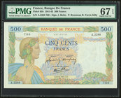 France Banque de France 500 Francs 6.2.1941 Pick 95b PMG Superb Gem Unc 67 EPQ.   HID09801242017