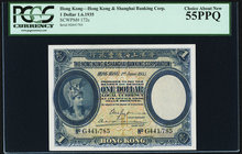 Hong Kong Hongkong & Shanghai Banking Corp. 1 Dollar 1.6.1935 Pick 172c PCGS Choice About New 55PPQ.   HID09801242017